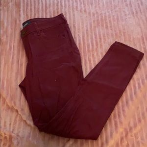 Wine (red) Colored Skinny Jeans Size 4
